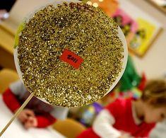 New Year's Eve glitter ball found at Preschool Daze