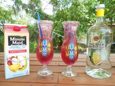 Fill a glass with ice and add.... 2 oz Bacardi Pineapple Fusion Rum Fill with Minute Maid 15 Fruit Punch Garnish with whatever fruit you have, the Sit Back, Relax, and Enjoy!!!