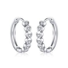 Fashion Hoop Unique Horseshoe High Polish .925 Sterling Silver Teardrop Earrings