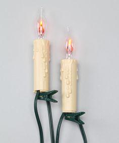 Look at this #zulilyfind! Seven-Light Flicker Flame Light Set #zulilyfinds