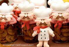 cocinero de fieltro <3 must do it!!