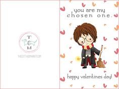 Free Printable Harry Potter Valentine's Day Cards - The Cottage Market