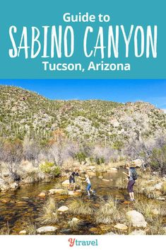 Things to do in Sabino Canyon, Tucson. This is one of the best places for hiking in Arizona! See our guide inside for tips on hiking trails, things to do, beautiful views, adventure with kids in the desert area, and places to stay in Tucson.  #Arizona #hiking #Tucson #familytravel #adventuretravel #traveltips #SabinoCanyon