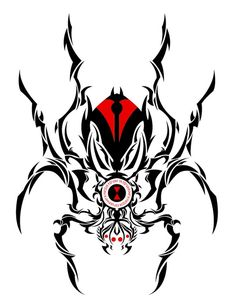 25 Black Widow Custom Tattoo & Design Tribal Caribou Tribal Tattoos, Tribal Drawings, Tribal Shoulder Tattoos, Tribal Tattoo Designs, Body Art Tattoos, Cool Tattoos, Tattoo Sketches, Tattoo Drawings, Dishonored Tattoo