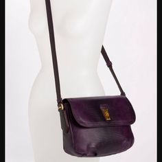 """Marc by Marc Jacobs bag Purple """" faux snakeskin"""" textured cross body bag. In excellent condition only used a few times. Inside is lined in purple nylon with MJ all over. 1 interior zip pkt and 2 slip pockets for cell or iPod. Very room 10"""" x 8.5"""" Marc by Marc Jacobs Bags"""