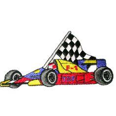 Iron On Patch Applique - Race car