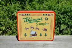 Vintage Whitman's Sampler Tin Hinged Cross Stich Tin by WVpickin