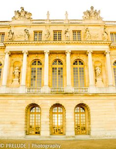 An outside view of the Hall of Mirrors at the Palace at Versailles. France Photography, Travel Photography, Hall Of Mirrors, Palace Of Versailles, Paris France, Mansions, The Originals, House Styles, Building