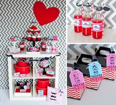 Mustache themed valentine's party | Mrs Mr | via Kara's Party Ideas #mustache #valentine's #party #idea