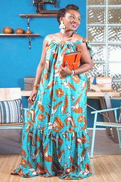 African Fashion Ankara, African Inspired Fashion, Latest African Fashion Dresses, African Print Fashion, African Print Dresses, African Dresses For Women, African Attire, Ankara Maxi Dress, Moda Afro