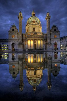 Karlskirche, Catholic Church, Vienna, Austria