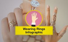 Fashion infographic & data visualisation Which Finger and Hand You should Wear Infographic Description Which Finger and Hand You should Wear – Infographic Source – Ring Finger Hand, Wedding Ring Finger, Wedding Punch, Wedding Jewelry, Wedding Rings, Fashion Infographic, How To Wear Rings, Wedding Planning Book, Wedding Consultant