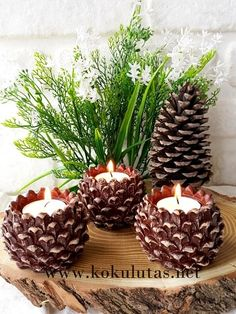 Beautiful DIY Christmas Decorations Craft Ideas with Pine Cones … – Happy Christmas Natural Christmas, Rustic Christmas, Simple Christmas, Pine Cone Art, Pine Cone Crafts, Pine Cone Decorations, Christmas Decorations, Christmas Ornaments, Decorating With Pine Cones