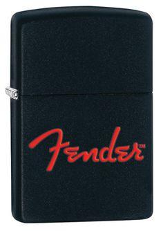 Zippo Fender Black Matte Windproof Lighter. Price: $27.95