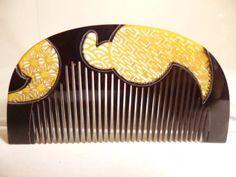 [Kotsuki] · ★ antique of the Italian nun] this tortoiseshell comb komon watermark jewels (ornamental hairpin) _ image 1