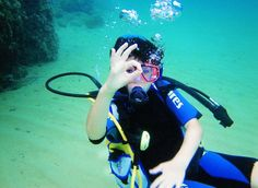 Does your little one want to try SCUBA on for size? We can organise lessons, just let us know you're interested.