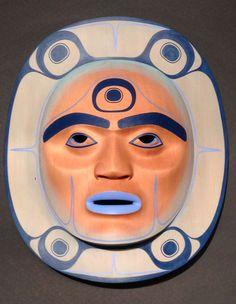 Klatle-bhi = Shaman Moon Mask Carvings at the Spirit Gallery : Horseshoe Bay, West Vancouver