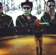 Depeche Mode + Anton Corbijn. Delta Machine tour projection.