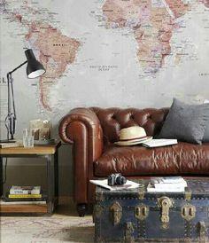 x4duros.com: Tú Preguntas! Dónde encontrar un mural de un mapa mundi barato
