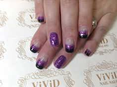 #vividnailsalonsydney#calgel#sydney#nail#nails#nailart#geldesign#art#nalisalon#gelnail#japanesenailart#ネイル#ネイルアート#ジェルネイル#カルジェル#美甲#指甲#black#glitter#purple#french