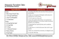 Heavenly Pumpkin Cake - GOODEness Gracious
