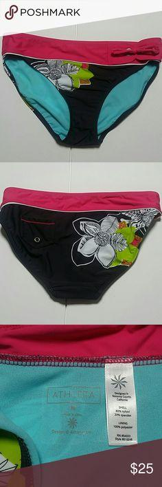 NWOT: Athleta bikini bottom size M this is Athleta bikini bottom with cute little pocket in the back. Never used or worn Athleta Swim Bikinis