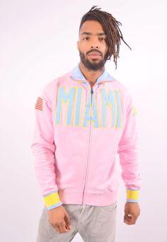 Excellent condition, vintage KAPPA Miami Pink Top Tracksuit for Men size L