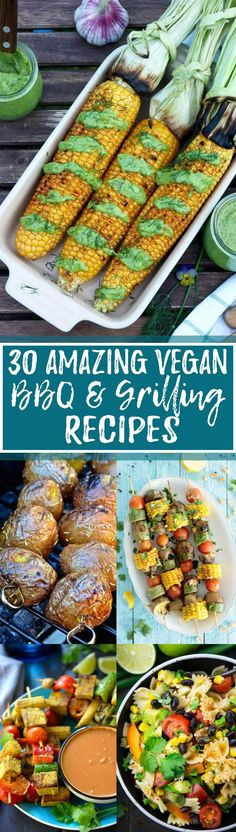 These 30 vegan BBQ & grilling recipes are perfect for summer cookouts! There are so many delicious and simple homemade vegan recipes for BBQs! You definitely don't need to miss out on the BBQ season because you're vegan! <3 | veganheaven.org
