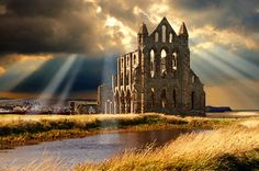 Medieval Gothic Whitby Abbey,  North Yorkshire, England  by Paul Williams