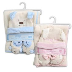 Little Mimos Baby Blanket 3-piece Set 30""