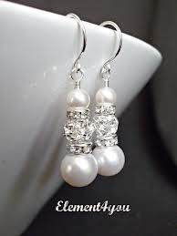 Pearls and Diamonds ~ My earrings for that special day~