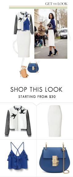 """""""The must Varsity Jacket."""" by laonela ❤ liked on Polyvore featuring MANGO, Lipsy and trend"""