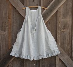 linen tunic pinafore smock, via Etsy.