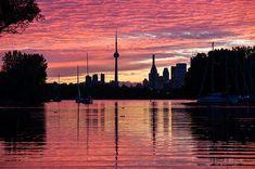 Title  Fiery Sunset - Downtown Toronto Skyline With Sailboats  Artist  Georgia Mizuleva  Medium  Photograph - Fine Art Photograph