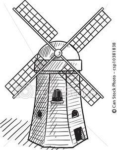 Simple Dutch windmill