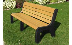Belson | Gallery | P-660 | Recycled Plastic Malibu Bench | Portable Mount | 6' Length
