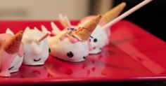 Narwhal cake pops! Check out the video tutorial on iHasCupQuake's youtube channel!