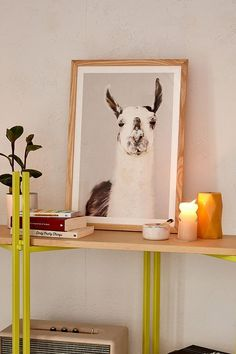 Baum Birdy Studio Llama Art Print   Urban Outfitters