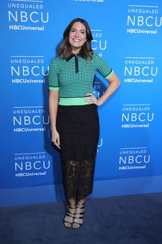 Mandy Moore in Diane von Furstenberg at the NBC Upfronts