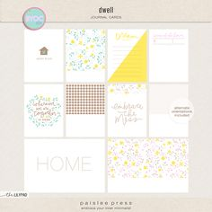 Dwell  journal cards by paislee pr...
