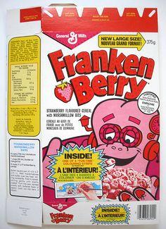 1980s cereal | 1980 General Mills Frankenberry Canadian Cereal Box Front | Flickr ...