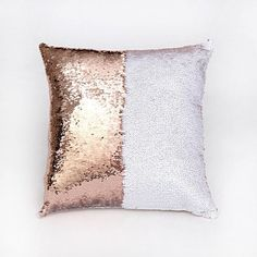 These beautiful and fun mermaid pillow covers are a great addition to any chair or bed. The unique design of sewn double sided sequins allows for patterns, designs, or words to be scrolled onto the pi