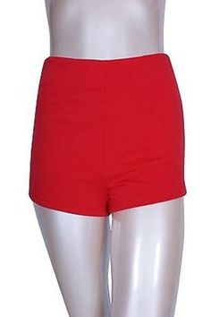 Casual Solid Colors High Waist Banded Stretch Zipper Back Short Slim Trousers