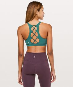 349bb94d9b2 Tied To It Bra - Royal Emerald Women's Sports Bras, Workout Attire,  Lululemon,