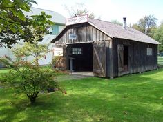 Blacksmith Shop - relocated from Port Colborne Quarries to represent F. Woods & Sons, a Blacksmith operation serving the canal trade in the Niagara Region, Blacksmith Shop, Lake Erie, Niagara Falls, Ontario, Woods, Shed, Canada, Outdoor Structures