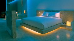 Bring the stylish glow of lights inspired by smart technology into your bedroom.