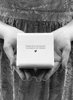 This lovely square keepsake box would be a perfect mother of the  bride/groom and one that could be enjoyed all year around. It's made of  earthenware clay and has this text printed on it: 'Thank you for raising  the man of my dreams.' #motherofgroom #mog #moggift #frombride #fromdaughterinlaw #frominlaw #toinlaw #motherinlaw #motherinlawgift #inlawgift #weddinggift #motherofthegroom