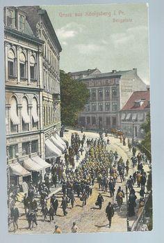 Königsberg Kaliningrad Bergplatz Ostpreußen Feldpost 1911