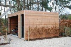 tuinhuis met fietsenstalling