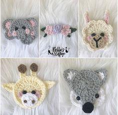 Crochet Patterns // Gifts // Maker Accessories // by NellasCottage Crochet Dinosaur Patterns, Crochet Applique Patterns Free, Crochet Blanket Patterns, Gift Maker, Crochet Mask, Animal Heads, Stuffed Animal Patterns, Crochet Animals, Mini